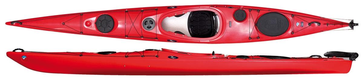 SeaBird Kajak Expedition XP 480 red Tourenkajak Seekajak Carbon